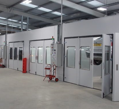 New Spraybooths installed by Beta Group